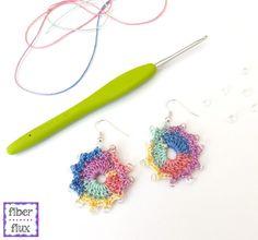 Fiber Flux: Free Crochet Pattern...Summer Sparkle Earrings! ༺✿ƬⱤღ https://www.pinterest.com/teretegui/✿༻