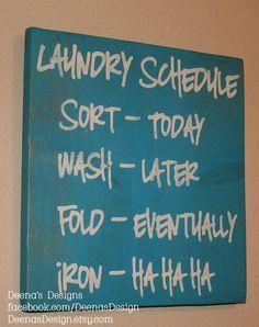 Laundry Schedule Laundry Room Decor Laundry Sign door DeenasDesign by lillian
