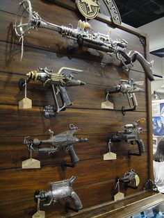 #Steampunk weapons at the Weta booth by Pop Culture Geek, via Flickr