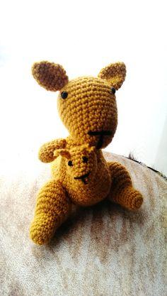 katy and kelvin the kangaroo cute soft playful by bizubijou