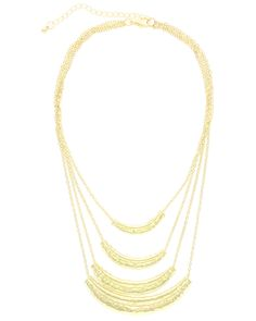 Spotted this Sparkling Sage 14K Plated Four Strand Necklace on Rue La La. Shop (quickly!).