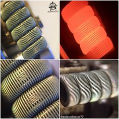 """Collage of last nights fused staple Clapton... #vape #vaper #vapor #vaping #vaperzreview #coilart #coilporn #coilsmith #coilskills #coilarchitect #subohm…"""