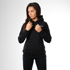 Gymshark Crest Pullover Hoodie - Black. The Gymshark Crest Hoodie is the perfect cover up as the weather turns cooler. Made from a warm cotton blend fabric with super soft interior. Order yours now > https://www.gymshark.com/products/gymshark-crest-pullover-hoodie-black-1