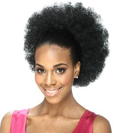 Outre Synthetic Drawstring Ponytail Timeless Afro Large Quick