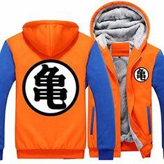 b0c5a7a1556a Poetic Walk Dragon Ball Z Son Goku Hero Wear Orange Thick Jacket Coat  Hoodie (Medium