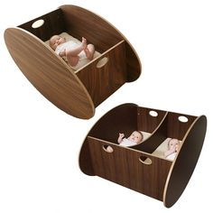 If It's Hip, It's Here: The Modern SO-RO Cradle With A Forward Rocking Motion For Your Baby - Or Two.