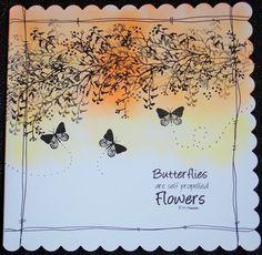 8 x 8 Birthday card using Card-io Majestix stamps