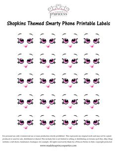 Shopkins Inspired Smarty Phone FREE Printable Made By A Princess