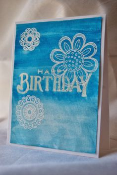Will Trade Sleep For Stamps: Make It Monday: Watercolored Backgrounds with Heat Embossed Sentiments- 3