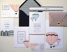 Hot-air balloon invitation set, MaeMae Paperie