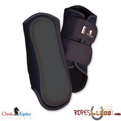 Preferred by NCHA Champion Faron Hightower and AQHA Champion Benny Guitron. An ideal lightweight, close profile protective boot for the show ring and for training. Double hook-and-loop straps provide