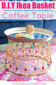 This Ikea is Amazing and affordable. You can transform an Ikea basket and mirror into a stunning Coffee Table just by using a few simple supplies. Coffee Table Ikea Hack, Coffee Table Makeover, Coffee Tables, Coffee Table Upcycle Ideas, Pallet Furniture Designs, Diy Furniture Projects, Ikea Hacks, Ikea Basket, Ikea Furniture Makeover