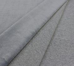 Alpen Fleece Jersey - Kuschelstoff - Grau