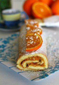 Rotolo con marmellata di arance e cioccolato bianco