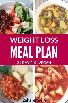 Vegan 21 day fix meal plan for the to calories plan (plan B). Frugal and gluten free weight loss meal plan for the plant based diet. Why do the 21 day fix on a vegan diet? Paleo Diet Plan, Vegan Meal Plans, Free Meal Plans, Vegetarian Weight Loss Plan, Gluten Free Meal Plan, Hcg Diet, Diet Foods, Healthy Weight, Weight Loss Meals