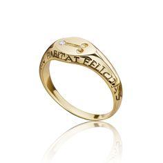 Fascinus pinky ring Ancient Symbols, Hand Engraving, Wedding Rings, Engagement Rings, Diamond, Gold, Jewelry, Enagement Rings, Jewlery