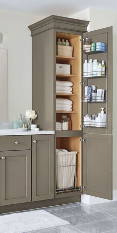 Functional Bathroom Storage and Space Saving Ideas (14) #kitchen #cabinet #ideas