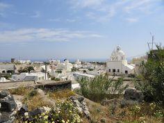 The village of Karterados on Santorini