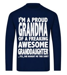 Proud Grandma Shirt Mothers Day Gift Fr (Long sleeved T-shirt Unisex - Navy) preschool grandparents day, personalized gifts for grandparents, photo ideas for grandparents #grandparentsforbernie #loveyou #family, back to school, aesthetic wallpaper, y2k fashion Personalized Gifts For Grandparents, Grandparents Day, Gifts For Father, Xmas Gifts, Mothers, Photo Ideas, Preschool, Unisex, Navy