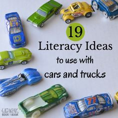 19 Literacy Ideas for Car and Truck Play via @growingbbb