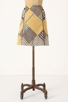 Houndstooth Collage Pencil Skirt by Maeve