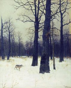 In the forest at winter - Isaac Levitan