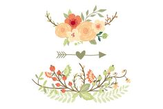 Natural Floral Wreaths II ~ Illustrations on Creative Market