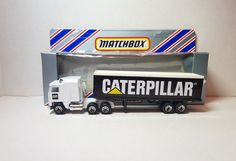 "diecast matchbox customized convoy kenworth box trailer truck "" CATERPILLAR "" 