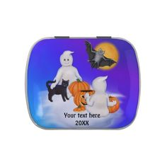 Halloween Ghosts and Friends Jelly Belly Tins with Jelly Belly candies. Select favorite flavor.