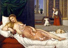25 Famous Paintings Photobombed By A Fat Cat. WARNING: Svetlana Petrova