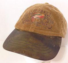 456beeb0 Vintage Ralph Lauren POLO Fly Fishing Strapback Hat Cap Corduroy Leather  Bill #PoloRalphLauren #BaseballCap