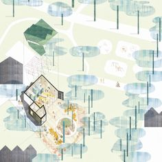 Montpelier Community Nursery in Camden by AY Architects.  Drawing: AY Architects in collaboration with Michiko Sumi.