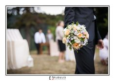 Creative wedding photography, shooting groom & wedding bouquet,