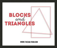 Blocks and Triangles – two ways to design your digiscrap layouts