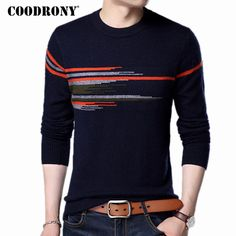 Cheap fashion sweaters men, Buy Quality sweater men directly from China sweater fashion men Suppliers: COODRONY Sweater Men 2017 New Fashion Pattern O-neck Pull Homme Winter Thick Warm Wool Sweaters Mink Cashmere Pullover Male 7315 Winter Outfits Men, Stylish Mens Outfits, Cashmere Sweater Men, Men Sweater, Cashmere Wool, Business Casual Men, Mens Clothing Styles, New Fashion, Male Fashion