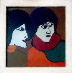 eine eigene Hinterglasmalerei, vor über 50 Jahren entstanden... Outsider Art, Kandinsky, Girl Model, Disney Characters, Fictional Characters, Snow White, Disney Princess, Painting, Artists