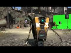 """the developers of Borderlands created these youtube promotion videos to advertise their new game. the """"Claptrap"""" is just as funny in game as he is here."""