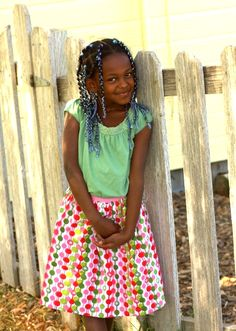 Tutorial: 30-minute skirt that takes only half a yard of fabric