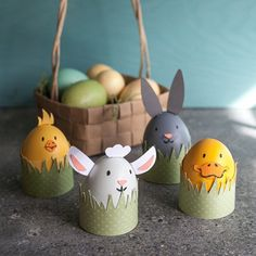 Invite this cute farm animal family to your Easter. Easy DIY Kids Project.