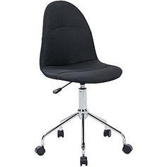 Techni Mobili Armless Task Chair. Color: Black