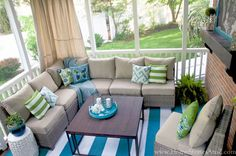 Lowe's Screen Porch & Deck Makeover Reveal