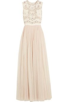 Needle & Thread Sequin-embellished crepe and tulle gown | NET-A-PORTER
