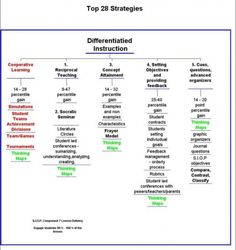 28 strategies for Differentiated Instruction