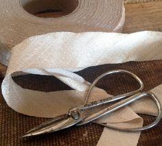 ivory cream dupioni silk ribbon