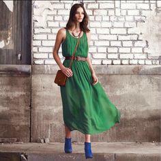 the maxi dress: summer's LBD. #emerald #coloroftheyear2013 #pantone