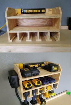 + 45 Resource To Help You Become Tool Storage Ideas Garage 11 Garage Workshop Organization, Garage Tool Storage, Workshop Storage, Garage Tools, Power Tool Storage, Workbench Organization, Garage Kits, Wood Workshop, Corner Storage