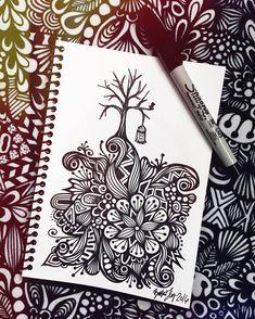free your mind #zentangle #zenspire