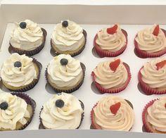 Fresh Blueberry and strawberry cupcakes. The Cake Lab Bakery, Ranelagh, Dublin, Ireland. Birthday Celebration, Strawberry Cupcakes, Dublin Ireland, Blueberry, Lab, Bakery, Artisan, Fresh, Labrador