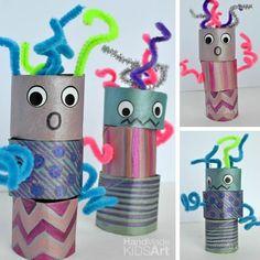 12 robots fets amb cartró i paper | tot nens