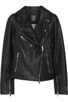 Lot78 Leather biker jacket | NET-A-PORTER